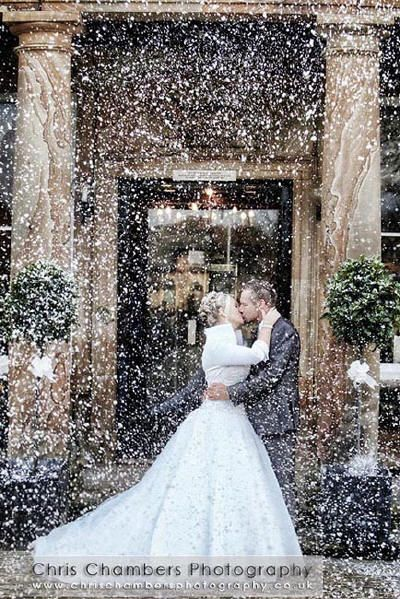 Confetti snow winter wedding shoot - Google Search