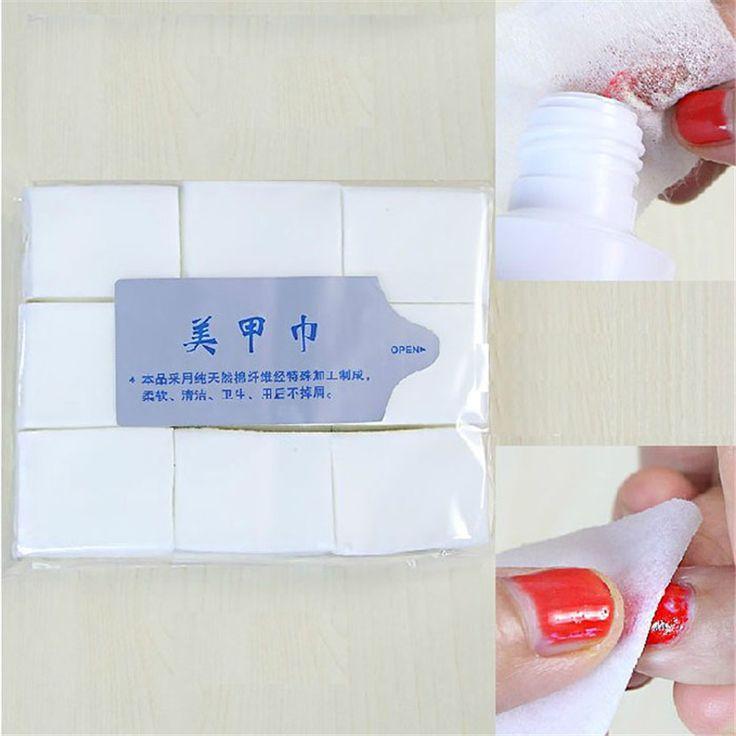1000 unids Nail Art Puntas de Manicura Del Removedor Del Polaco Clean Wipes Lint Pads Papel Cton Dropship