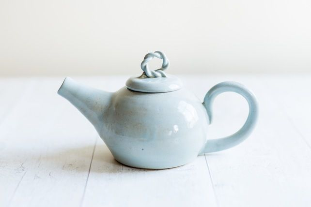 Rustic Two Cup Teapot in Duck Egg Glaze - Made to Order £45.00