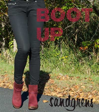 Philly Boots from Sandgrens. #ClogBoots #Swedishclogs www.sandgrensclogs.com/links/p/philly-berry-nh.php