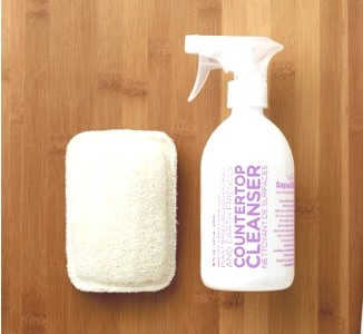 Sweet Lavender + Lime Countertop cleaner...who would have thought natural green cleaning could be such a beautiful thing....