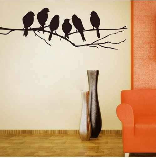 Birds on a Branch Wall Decals