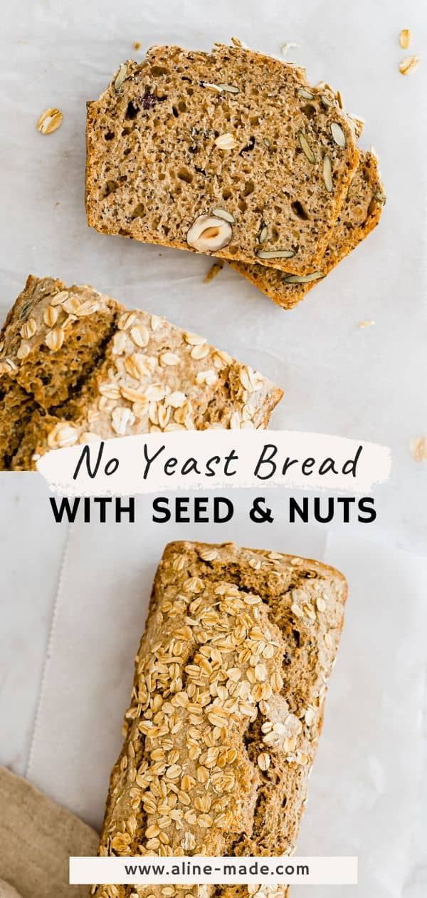 This Healthy And Quick No Yeast Bread Is Made And Baked Within One Hour A Recipe For All Who Love He In 2021 No Yeast Bread Healthy Homemade Bread Homemade Bread Easy
