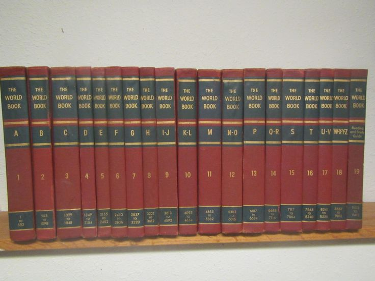 1958 Complete set of 18 WORLD BOOK ENCYCLOPEDIAS A thru Z  plus study guide and 1959 and 1960 annuals * reference books by mauryscollectibles on Etsy