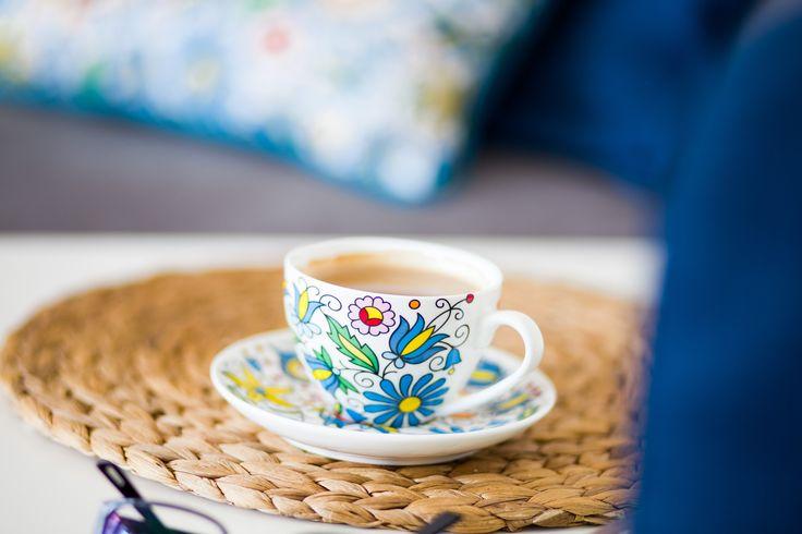 Filiżanka w pudełku FOLK – ludowe kwiaty z kaszubskich haftów