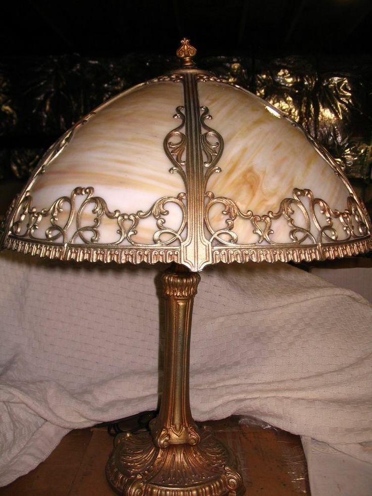 23 Best Slag Glass Lamps Images On Pinterest Glass Lamps