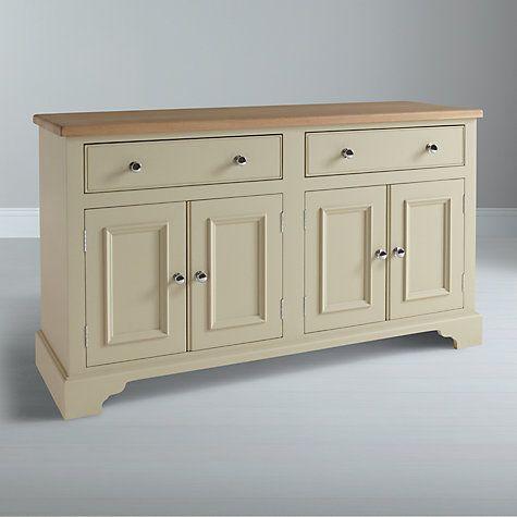 Buy Neptune Chichester 5ft 4 Door Sideboard, Limestone Online at johnlewis.com