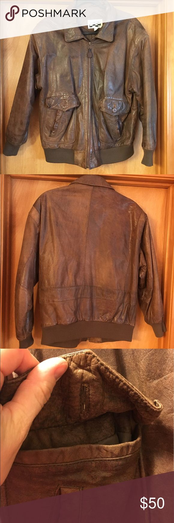 Vintage leather bomber jacket Leather bomber jacket