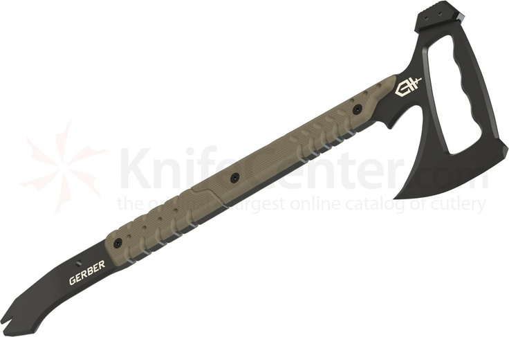 "Gerber Tactical Downrange Tomahawk 19.27"" Overall, Pry Bar Handle, MOLLE Sheath (30-000792) - KnifeCenter"