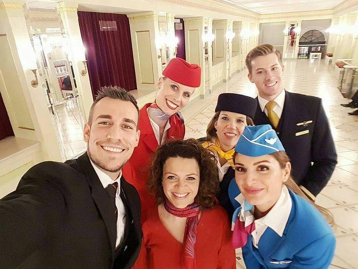 From @monsieur_mo_mo  #aviation #aviationgeek #staralliance #lufthansa #swiss #austrianairlines #eurowings #crew #crewlife #fun #friends #love #gay #uniform #jumpseatcrew #crewfie #crewiser