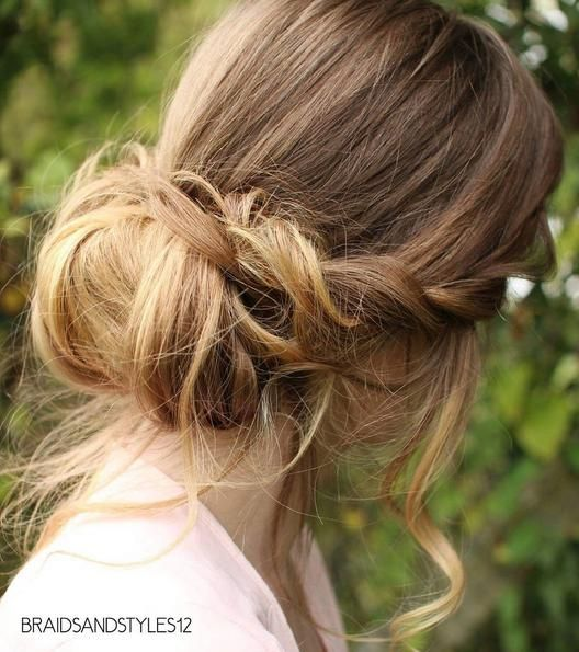 Image result for simple chignon