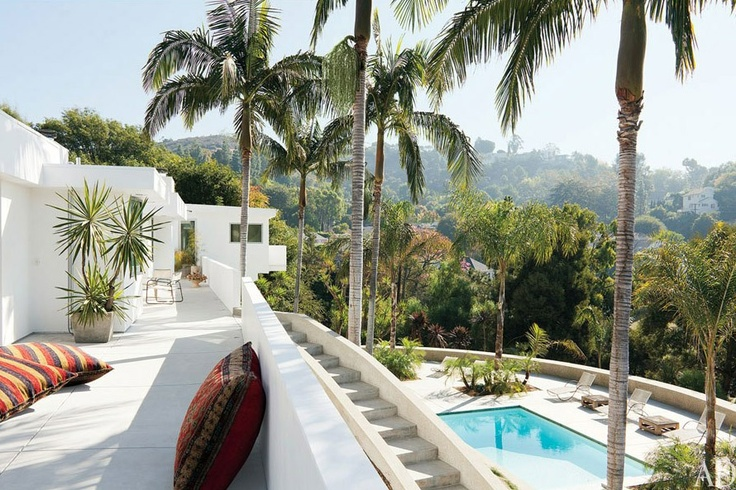 Adam Levine's Hollywood Hills home.  Celebrity style, Maroon 5