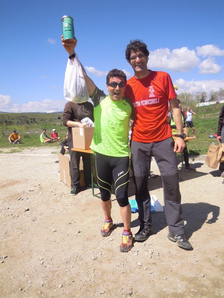 El segundo premiado con un pack Cantio en el sorteo celebrado al término de la prueba Pedrezuela Trail, dentro de la Copa de Carreras por Montaña de la Federación Madrileña