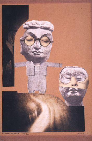 Hannah Höch, From an Ethnographical Museum, photomontage, 1927, private collection.
