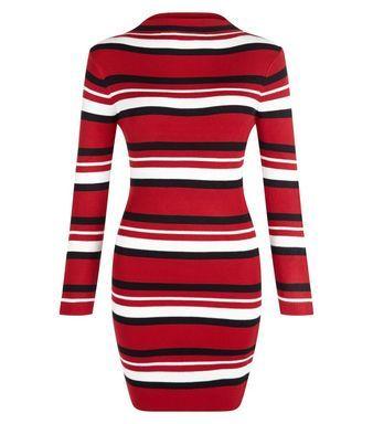 Petite Red Colour Block Sleeveless Dress | New Look