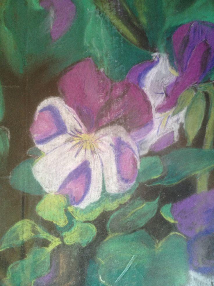 Flower from my garden. Pastel