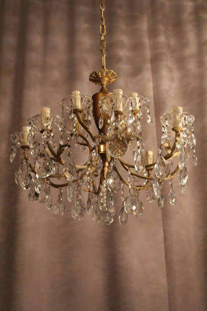 #Vintage #Antique #Crystal #19th #century #Chandelier #Italy #Vila