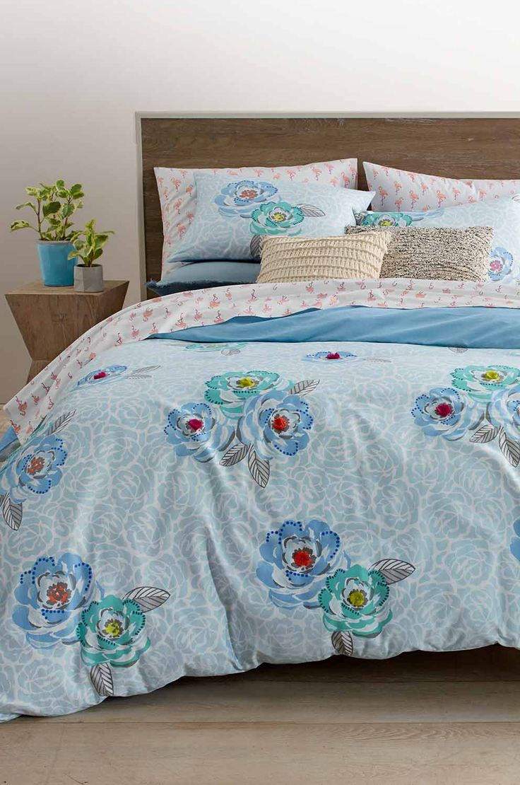 We're having sweet dreams of spring with this comforter set from Martha's Whim collection! The special tufted details at the center of each flower add a decorative element, and the matching shams bring the whole look together. Shop the Martha Stewart Collection created for Macy's to refresh your home for the new season!