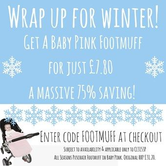 Wrap up for Winter & Grab yourself a Bargain Baby Pink Pushchair Footmuff! Find out more about this universal pram footmuff for your baby here, and why it's brilliant for keeping your little one warm in the colder weather. Find out more here: