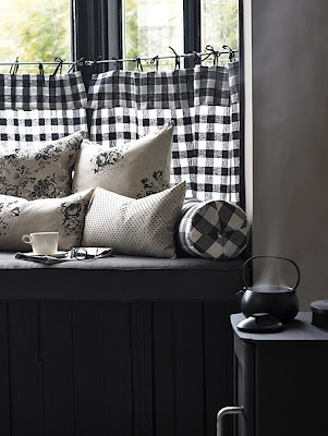 Black And White Gingham Maybe With A Valance For The Kitchen Use Red As