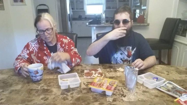 Eating 9 Lunchables Pizzas With My Mom