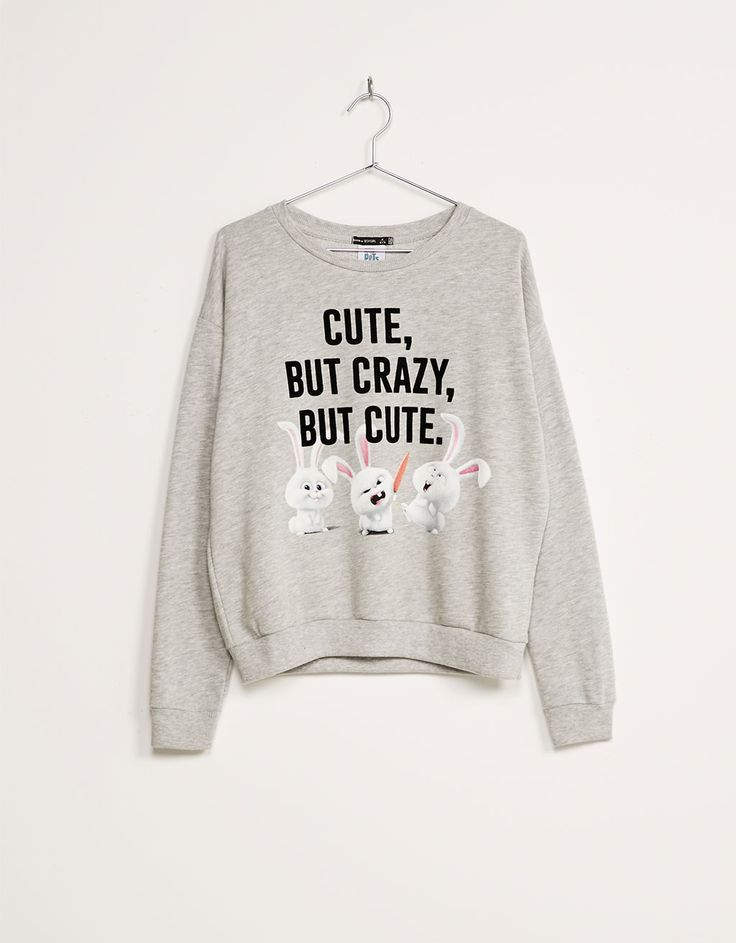Pet print plush sweatshirt. Discover this and many more items in Bershka with new products every week