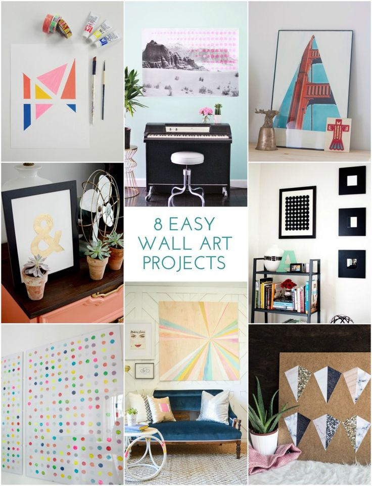 8 Easy Wall Art Projects