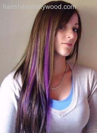 purple highlights in brown hair violets - Recherche Google