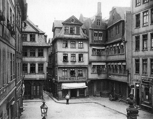 Frankfurt am Main, Hühnermarkt, ca 1900