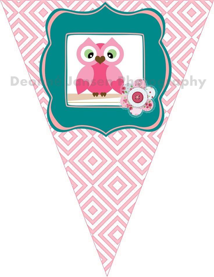 owl theme bunting