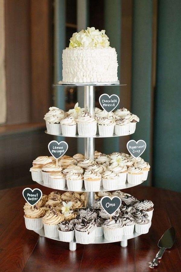 15 Mouthwatering Wedding Cakes With Cupcakes Cupcake Inspiration Cupcake Tower Wedding Simple Wedding Cake Wedding Desserts