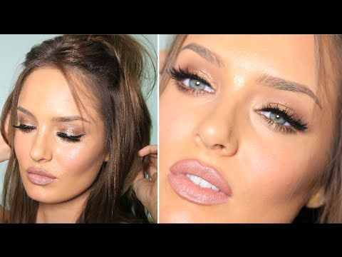 Kylie Jenner Bronze Glam With HUGE Lips & Lashes - YouTube
