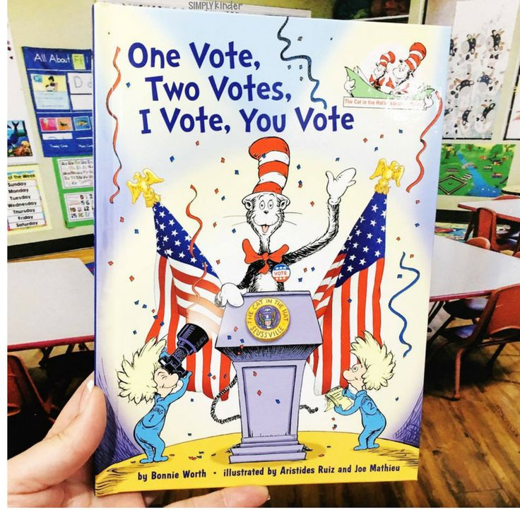 One Vote, Two Votes, I Vote, You Vote - A great book and lots of activities for your kindergarten and first grade students.