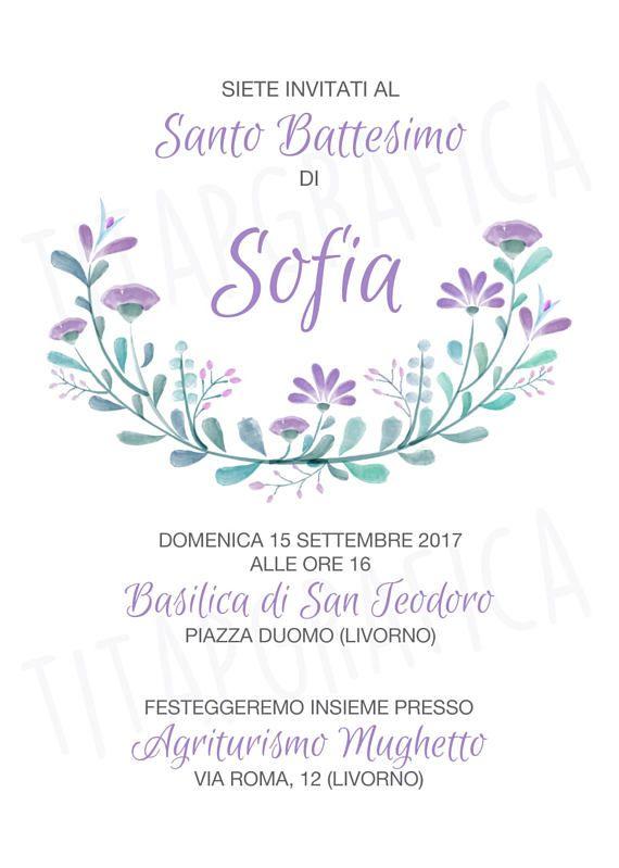 Floral Digital Invitation For A Babys Baptism For Instant