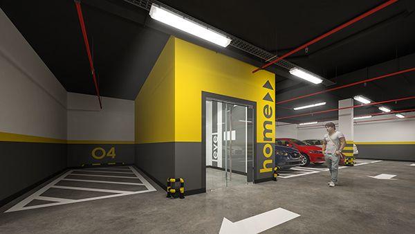 Parking Underground parking in high-rise apartment building Ukraine, Kiev     Ппркинг Подземный паркинг в многоэтажном жилом доме Украина, Киев