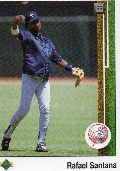 1989 Upper Deck Baseball Card Yankees Rafael Santana
