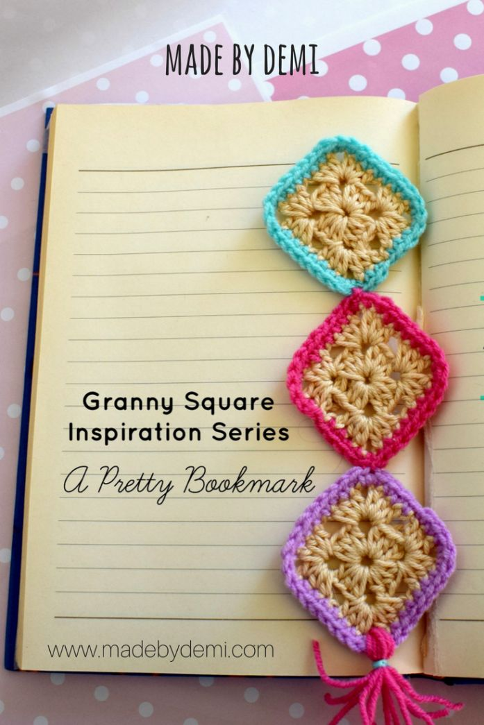 GRANNY SQUARE INSPIRATION SERIES | A PRETTY BOOKMARK | made by demi