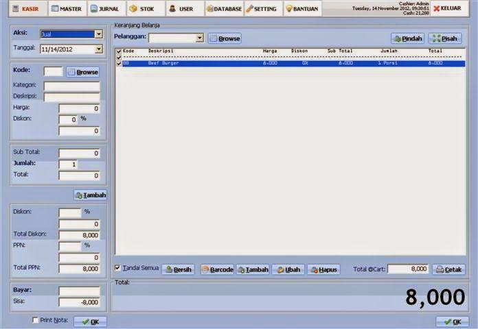 Program Akuntansi Murah Mudah dan Handal: Software Kasir Toko Gratis