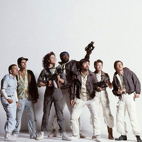 Alien (1979) - Ian Holm (Ash), Harry Dean Stanton (Brett), Sigourney Weaver (Ripley), Yaphet Kotto (Parker), Tom Skerritt (Dallas), Veronica Cartwright (Lambert) & John Hurt (Kane)