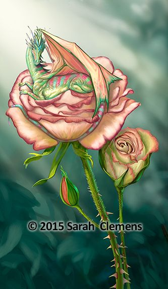 Rose Dragon - by Sarah Clemens