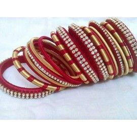 Bangle set made of silk thread-87