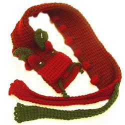 ちょっと手づくりno154 クロバーダブルフックアフガン針で編む 干支「辰」のマフラー