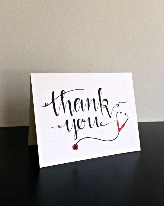 medical thank you card    nurse thank you    card for nurse