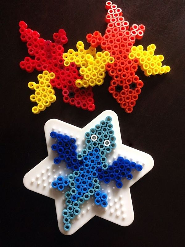 Dragon Hama Bead Pattern. Cute Dragons made from perler ...
