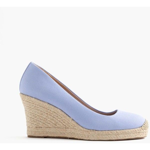 J.Crew Seville Espadrille Wedges ($170) ❤ liked on Polyvore featuring shoes, sandals, wedge espadrilles, platform wedge shoes, platform espadrilles, espadrille wedge shoes and high heel wedge sandals