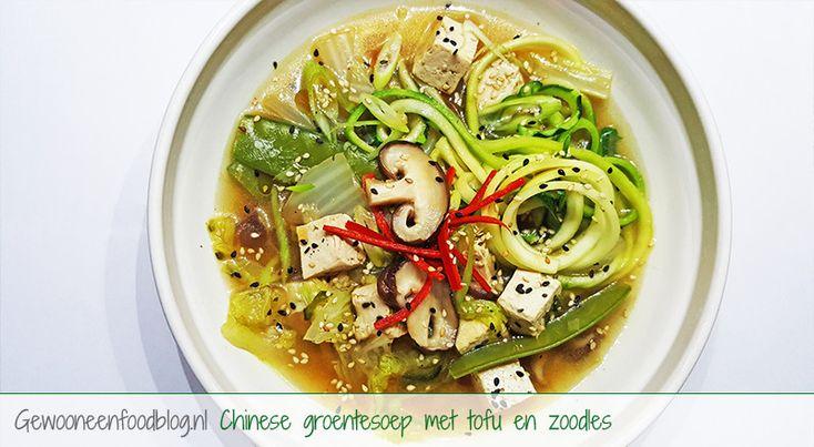 Chinese groentesoep met tofu en zoodles | Gewoon een foodblog!