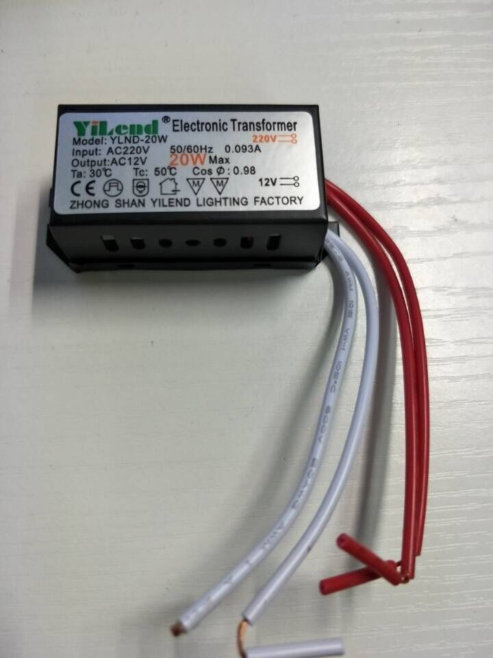 New 1 Piece Ac 220v To 12v Electronic Transformer 20w Led Driver Power Supply For Mr11 Mr16 G4 Lamp Bulbs Piece 22 Led Drivers Lamp Bulb Diy Electronic Kits
