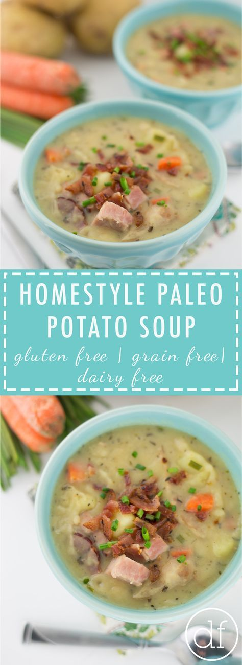 Homestyle Paleo Potato Soup | Paleo Soup | Healthy Potato Soup | 21 Day Sugar Detox | Whole30 | Gluten Free | Grain Free | Dairy Free