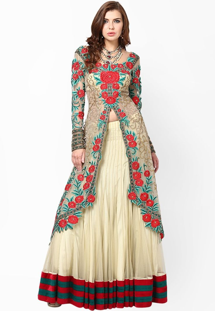 Embroidered Cream Lehengas at $5,244.00 (24% OFF)