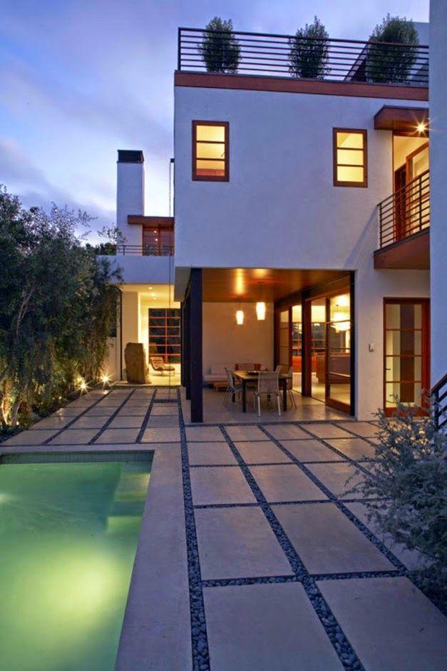 Arsitektur Desain Rumah Pantai Kontemporer | Griya Indonesia